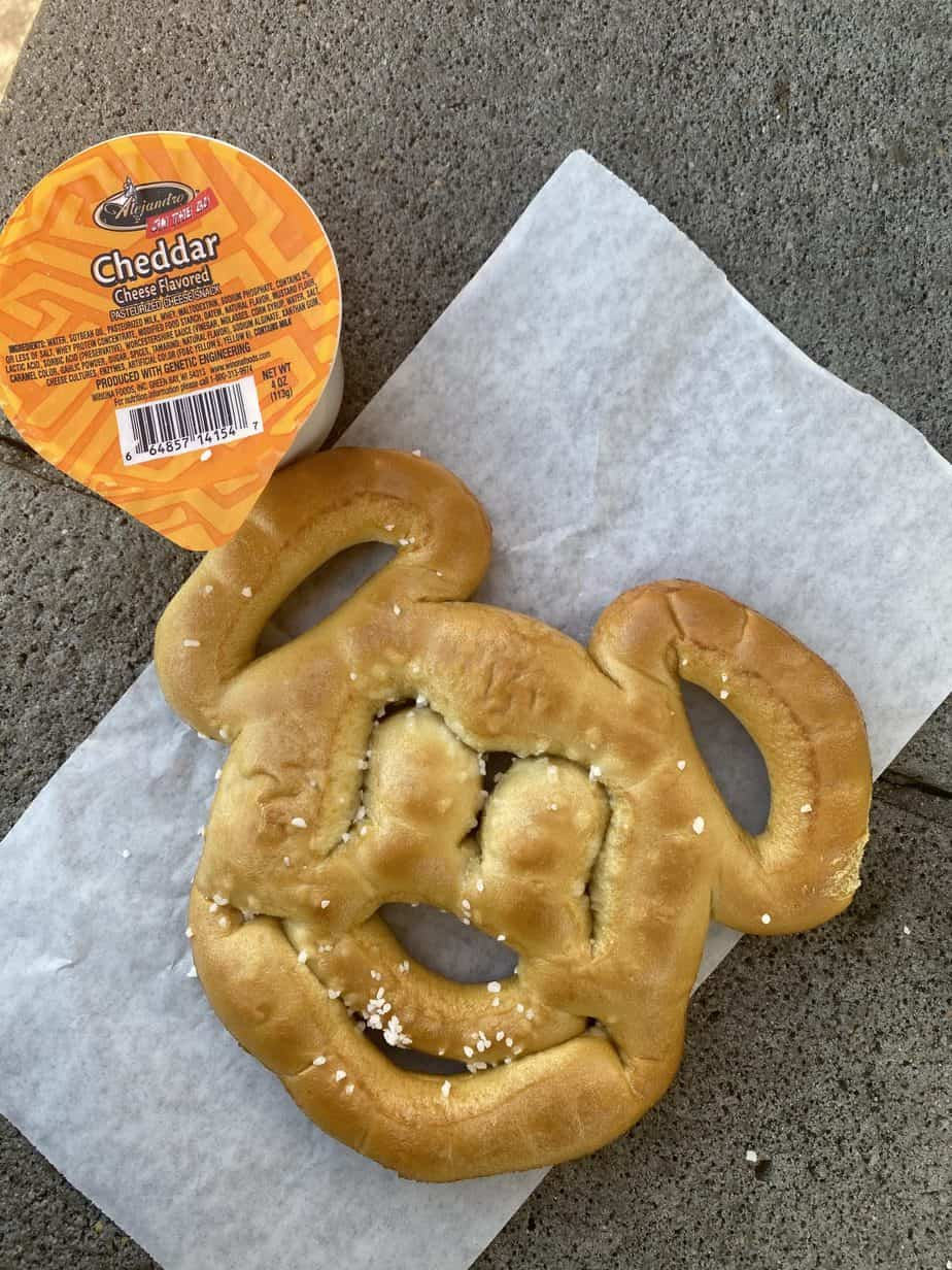 magic kingdom snack - mickey pretzel