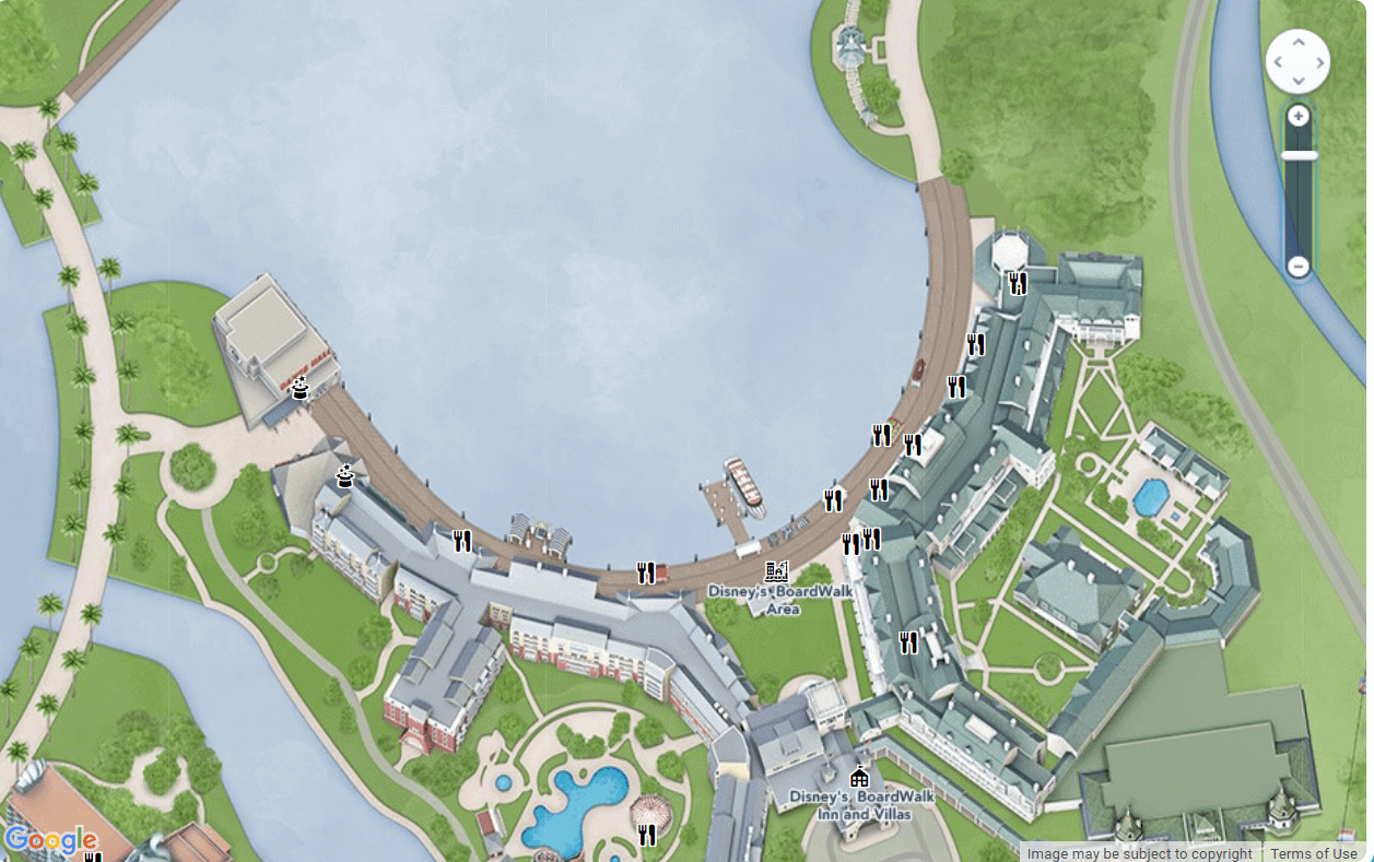 Disney's Boardwalk Map