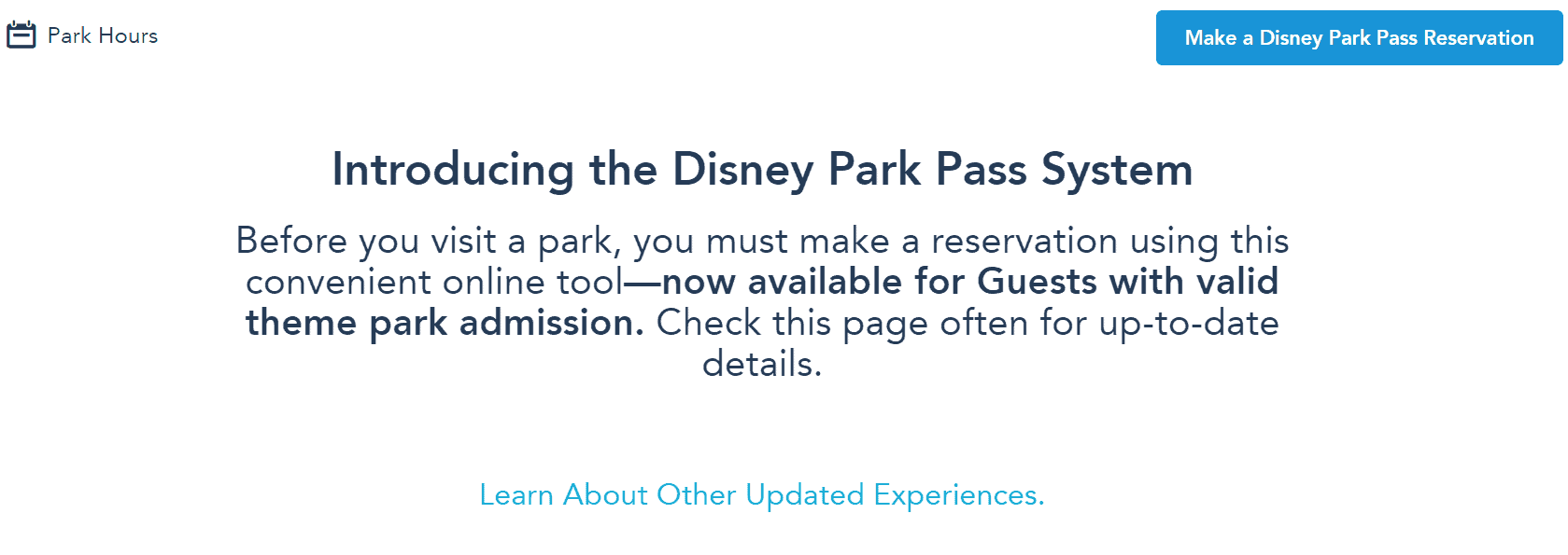Disney park pass system - create your party