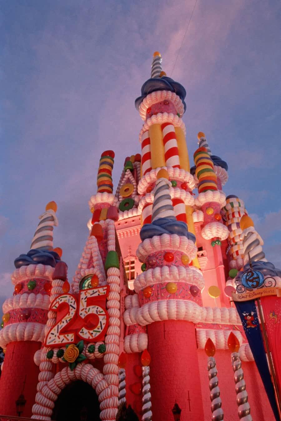 disney 25th anniversary castle cake