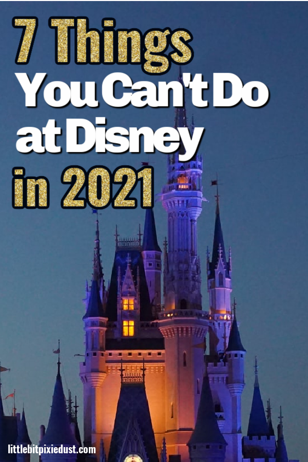 things you cant do at disney 2021