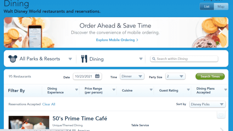 Disney World Dining Reservations – Ultimate Tips and Tricks